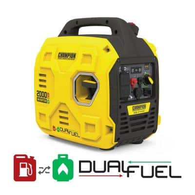 2000-Watt Portable Dual Fuel Gas and Propane Recoil Start Inverter Generator with ParaLINK