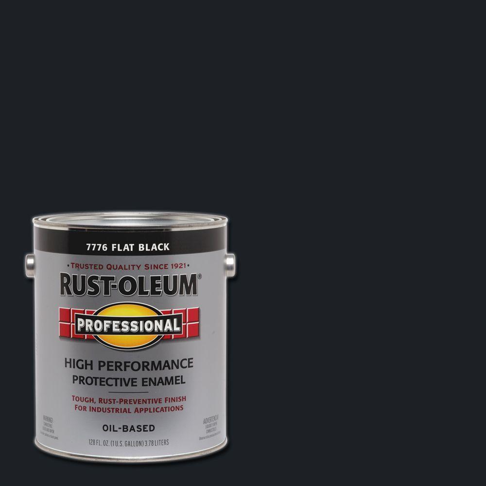 1 gal. High Performance Protective Enamel Flat Black Oil-Based Interior/Exterior Paint