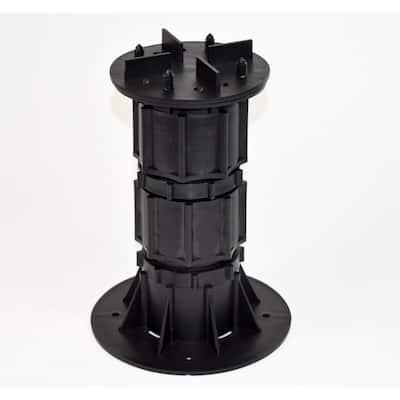 DTG-S6 7.67 in. x 12.80 in. Deck Tile Compatible Plastic Adjustable Pedestal Support (8-Pack)