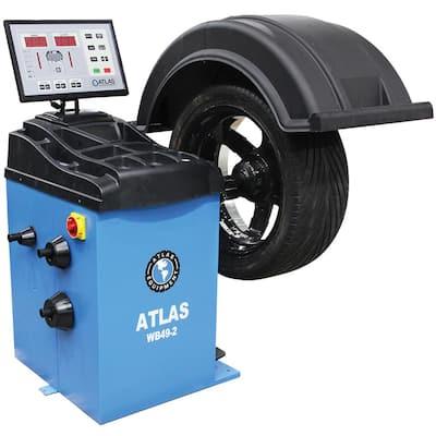 Self Calibrating 2D Wheel Balancer