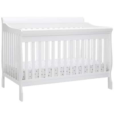 Canton Bianca White 6-in-1 Convertible Crib