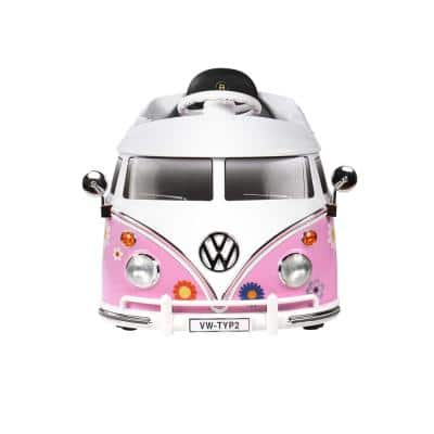 VW Bus 6-Volt Battery Ride-On Vehicle in Pink