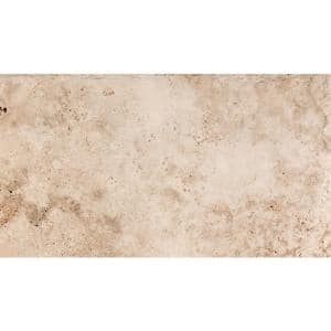 Trav Chiseled Vanilla Coffee 7.87 in. x 15.75 in. Travertine Floor and Wall Tile