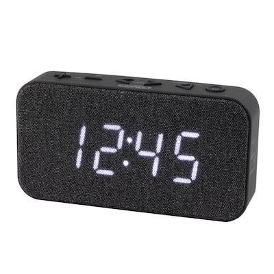 FM Digital Black Dual Alarm Clock Radio