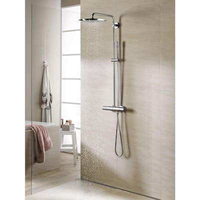 Sena 1-Spray 1.5 in. Single Wall Mount Handheld Shower Head in StarLight Chrome