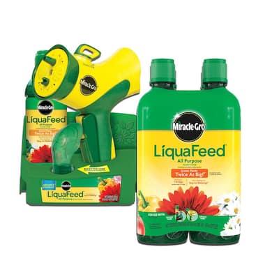 LiquaFeed 16 oz. All Purpose Plant Food Advance Starter Kit and 32 oz. All Purpose Plant Food Refill Bundle