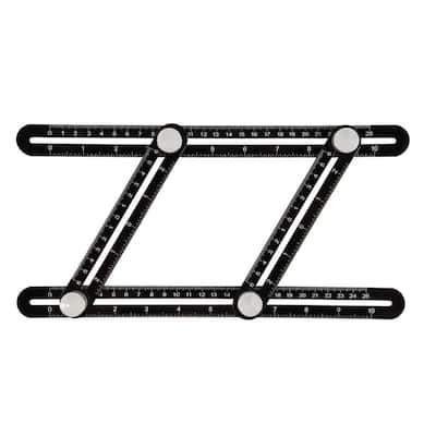 10 in. Universal Angle Template Tool Optimized Aluminum Angle-izer Easy 1 Hand Utility Ultra Precise Multi Angle Ruler