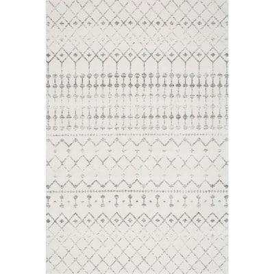 Blythe Modern Moroccan Trellis Gray 5 ft. x 8 ft. Area Rug