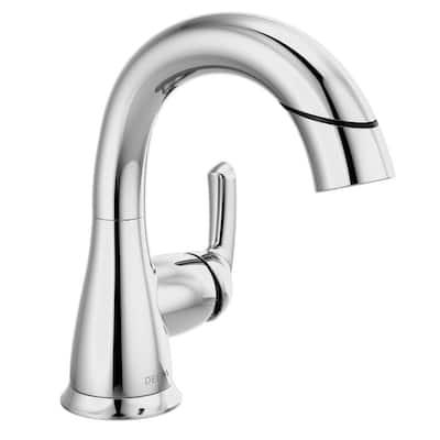 Broadmoor Single Hole Single-Handle Bathroom Faucet with Pull-Down Sprayer in Chrome