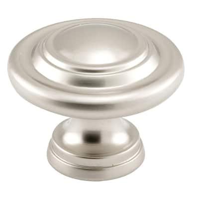 1-11/16 in., Satin Nickel, Bi-fold Door Pull Knob