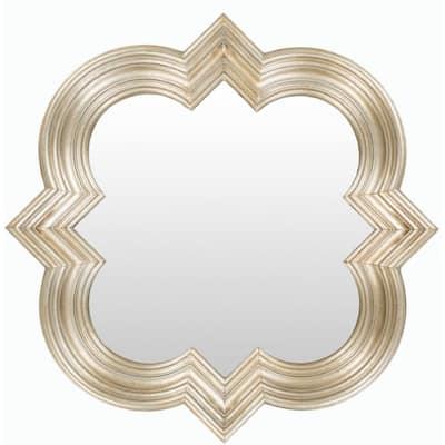 Medium Square Gold Modern Mirror (34 in. H x 34 in. W)