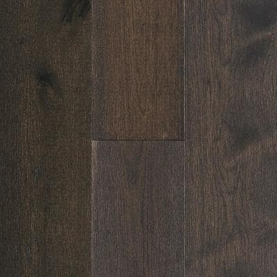 Time Honored Hickory Dark Brown 3/8 in. Tx 7-1/4 in. Wx Varying L Engineered Click Hardwood Flooring(32.63 sq. ft./case)