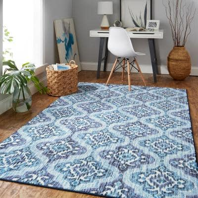 Rialto Water 5 ft. x 8 ft. Area Rug