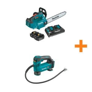 16 in. 18-Volt X2 (36-Volt) LXT Brushless Cordless Top Handle Chain Saw Kit (5.0Ah) with Bonus 18V LXT Cordless Inflator