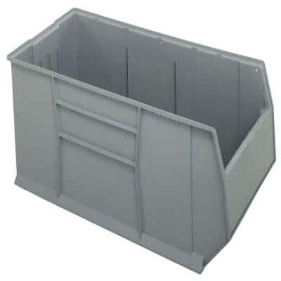 Quantum Rackbin 42 in. 63-Gal. Storage Tote in Gray (1-Pack)