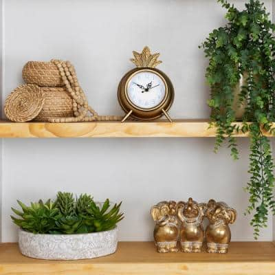 James Gold Pineapple Table Clock