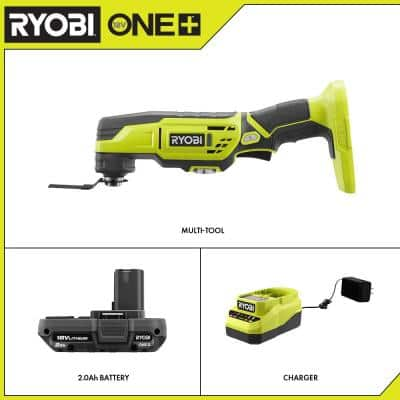 ONE+ 18V Cordless Multi-Tool with 2.0 Ah Battery and Charger