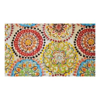 In-Home Washable/Non-Slip Vintage Fresco 2 ft. 3 in. x 3 ft. 11 in. Area Rug & Mat