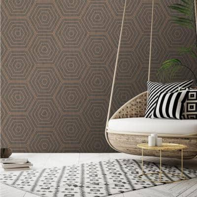 Aztec Hexagons Paper Strippable Roll (Covers 54 sq. ft.)