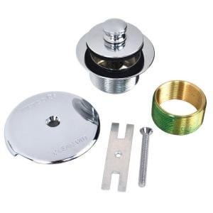 1.625 in. Overall Diameter x 16 Threads x 1.25 in. Push Pull Trim Kit with 38101 Bushing in Chrome Plated