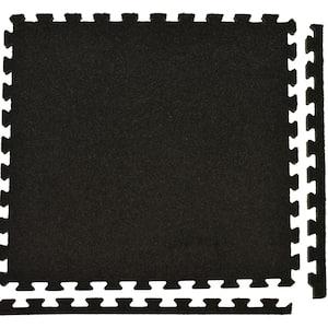 Royal Carpet Charcoal Velour Plush 2 ft. x 2 ft. x 5/8 in. Interlocking Carpet Tile 96.875 sq. ft. (25 Tiles/Case)