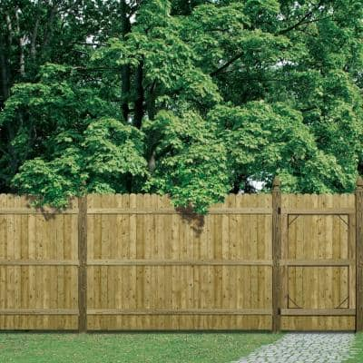 6 ft. H x 8 ft. W Pressure-Treated 4 in. Dog-Ear Fence Panel