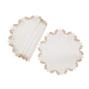 0.1 in. H x 16 in. W Anais Elegant Lace Embroidered Cutwork Placemats (Set of 4)