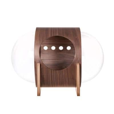 MYZOO Small Spaceship Alpha Warm and Cozy Walnut Cat Bed