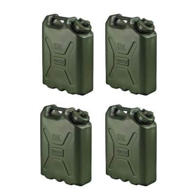 BPA Durable 5 Gal. 20 Liter Portable Water Storage Container (4-Pack)