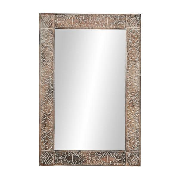Litton Lane Large Rectangle Whitewashed, Large Wall Mirror Uk