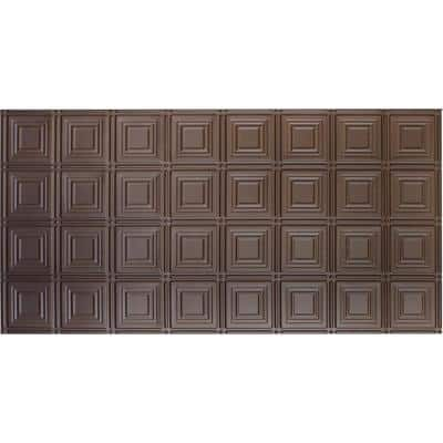 Dimensions 2 ft. x 4 ft. Glue Up Tin Ceiling Tile in Metallic Bronze