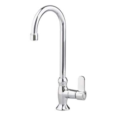 Heritage Single-Handle Bar Faucet with Metal Lever Handles in Chrome
