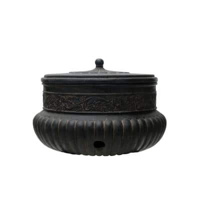 21.75 in. Dia Hose Pot in Aged Charcoal