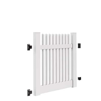 Yukon Straight 4 ft. W x 4 ft. H White Vinyl Un-Assembled Fence Gate