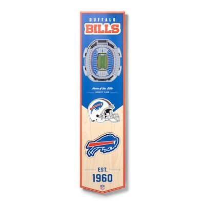 NFL Buffalo Bills Wooden 8 in. x 32 in. 3D Stadium Banner-New Era Field
