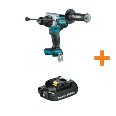 18-Volt Lithium-Ion Brushless 1/2 in. Cordless Hammer Driver Drill (Tool-Only) with Bonus 18V LXT Compact 2.0Ah Battery