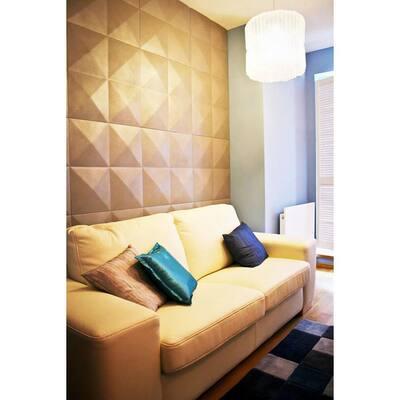 1-7/8 in. x 11-7/8 in. x 11-7/8 in. PVC White Sellek EnduraWall Decorative 3D Wall Panel