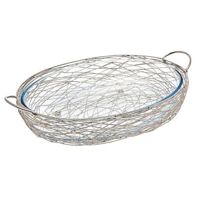 Nest Oval Baker with Glass Insert