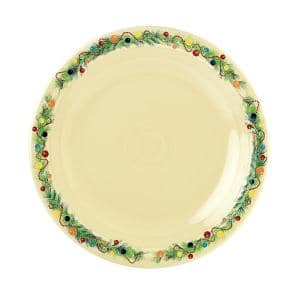 Ivory Christmas Tree Dinner Plate