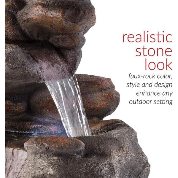 Alpine Corporation 40 In Tall Outdoor, Small Outdoor Rock Fountains