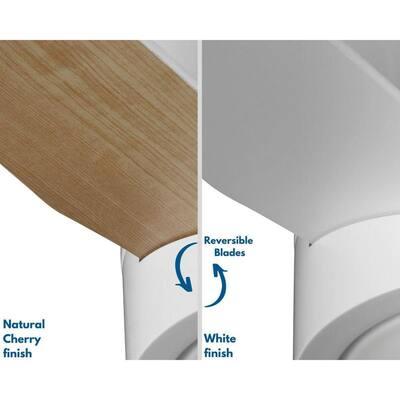 Braden 44 in. Reversible 3-Blade LED Indoor White Mid-Century Modern Hugger Ceiling Fan