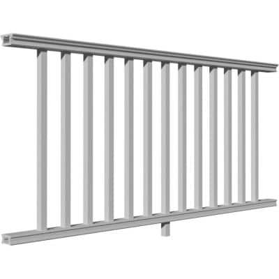 96 in. x 36 in. Level Section Providence Rail Kit with Reinforcements, 18 Balusters, Hardware and Crush Blocks