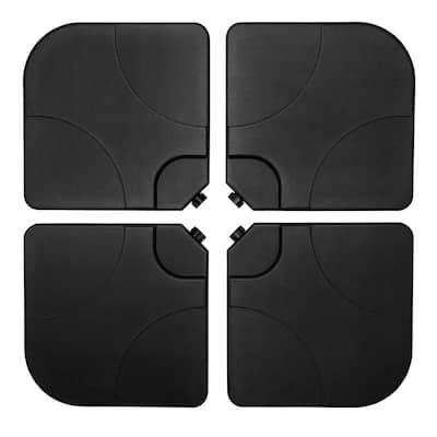 Cantilever 18 lbs. Patio Umbrella Plastic Base in Black