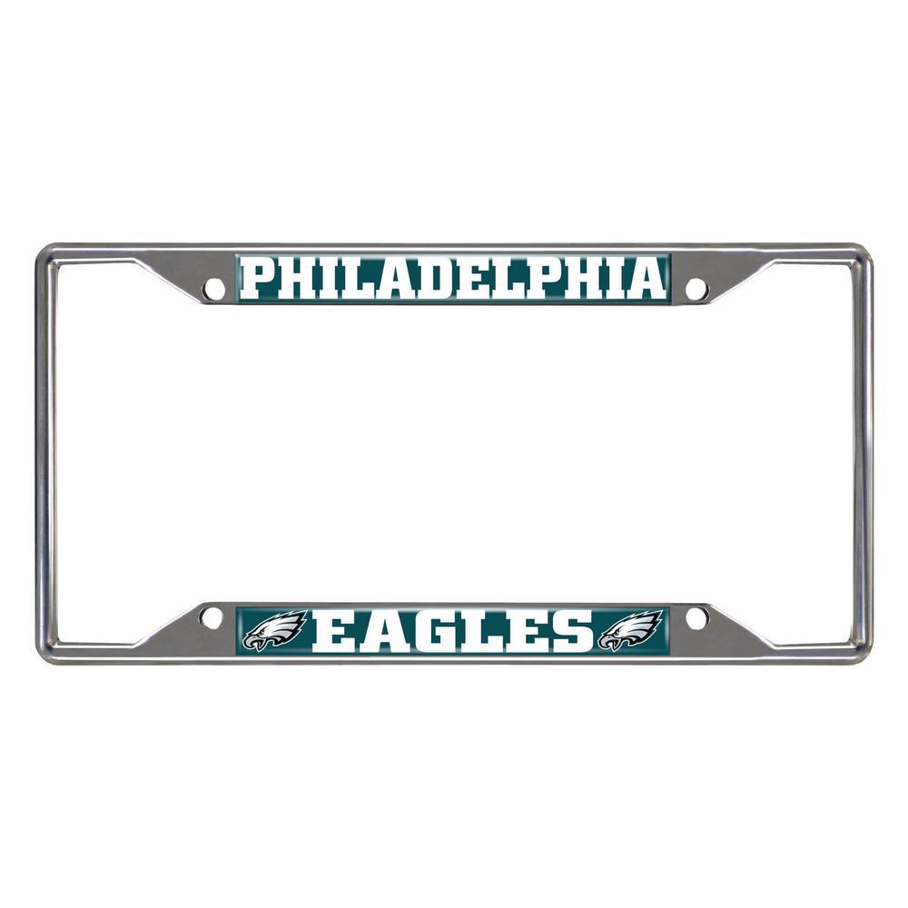 NFL - Philadelphia Eagles Chromed Stainless Steel License Plate Frame