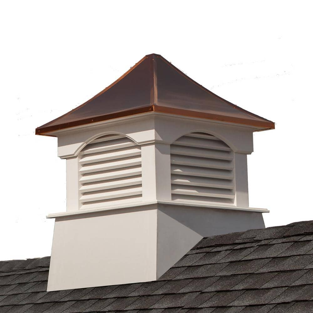 Good Directions Coventry 26 In X 35 In Vinyl Cupola With Copper Roof 2126cv The Home Depot