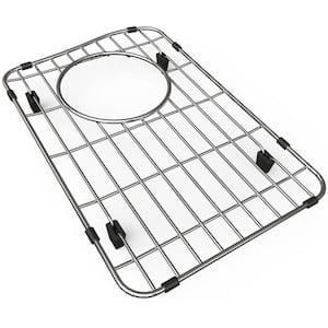Quartz 9.625 in. x 14.625 in. Bottom Grid for Kitchen Sink in Stainless Steel