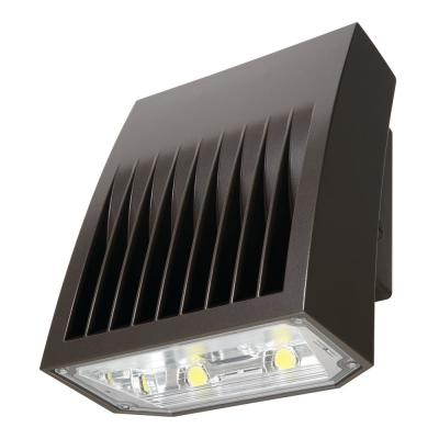 Crosstour Carbon Bronze Outdoor Integrated LED Wall Pack and Area Security Light at 2751 Lumens with Full Cutoff Lens