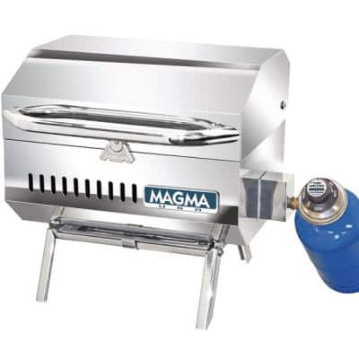 Trailmate Connoisseur Series Portable Propane Gas Barbecue Grill in Stainless Steel