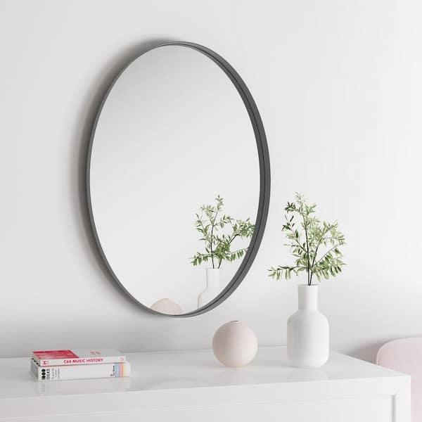 H Framed Oval Bathroom Vanity Mirror, Large Oval Mirror Bathroom