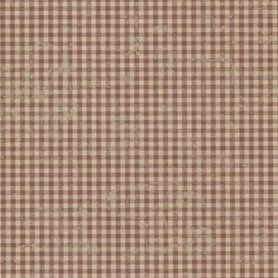 Greer Burgundy Gingham Check Burgundy Wallpaper Sample